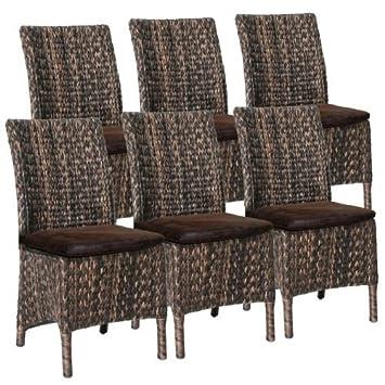 Esszimmer-Stuhl Original Loomstuhl-Set Diana incl. Sitzkissen buffel tobacco Farbe Loom abacca