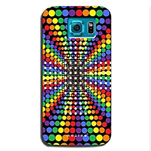 Mozine Rainbow Dots printed mobile back cover for Samsung s6