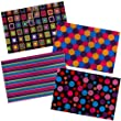Tiger A4 stud wallet folders in assorted fashion designs - pack of 5 files