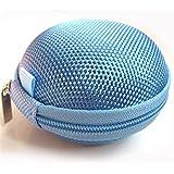Domire Carrying Hard Case Bag for Earphone Headphone Light Blue