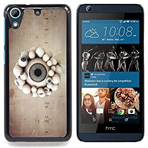 Omega Covers - Snap on Hard Back Case Cover Shell FOR HTC DESIRE 626 - Eyeball Parade
