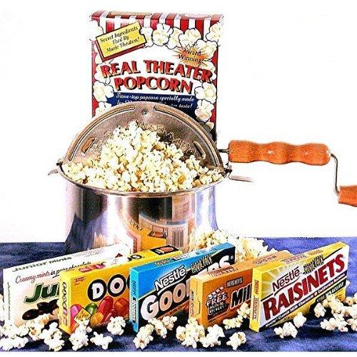 'Matinee Idol' Movie Night Candy Gift Basket and Popcorn Popper