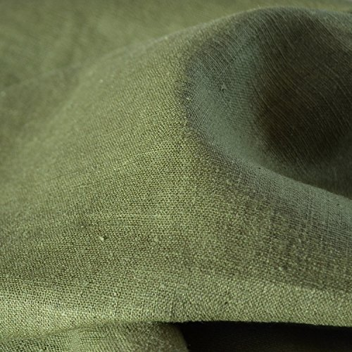 100% Linen Fabric - Olive Drab
