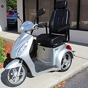 CHALLENGER SPORT Fast Electric Mobility Scooter High Power 15Mph Speed Trike - SILVER... by Challenger Mobility