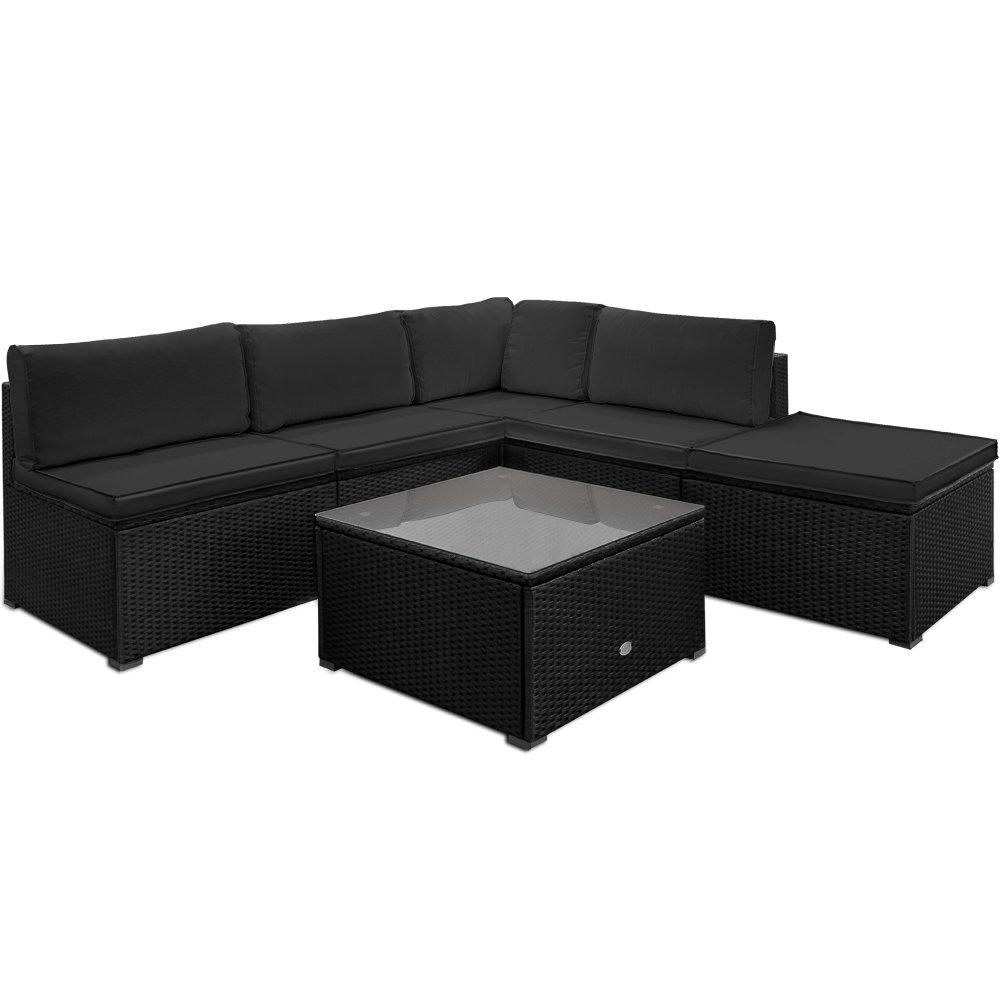 Poly Rattan Lounge Set Sitzgruppe Sitzgarnitur Gartenmöbel Gartenset Gartenliege günstig online kaufen