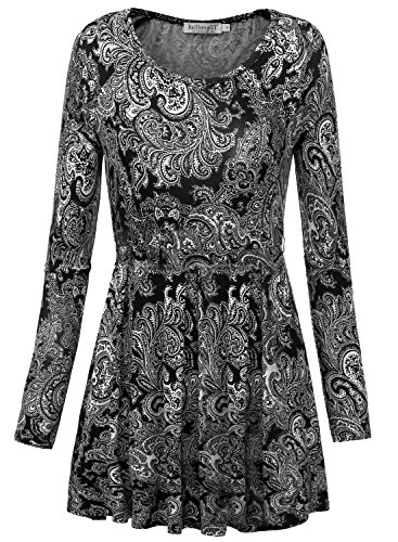 BAISHENGGT-Womens-Raglan-Sleeve-Fit-and-Flared-Belted-Tunic-Top