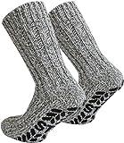 2 Paar Antirutsch Norweger Socken mit ABS Sohle Farbe Mehrfarbig Größe 47/49