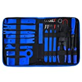 Trim Removal Tool, AMDRFO 23Pcs Car Panel Door Audio Trim Removal Tool Kit, Auto Clip Pliers Fastener Remover Pry Tool Set with Storage Bag (Color: 23Pcs)