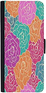 Snoogg Seamless Hand Drawn Waves Texture Designer Protective Phone Flip Case Cover For Coolpad Note 3 Lite