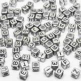 Toy - TipTopSeller Loom Bands Buchstaben Bandz looms Buchstaben ca. 90 St�ck Perlen Buchstabenbox (Buchstaben Silber)