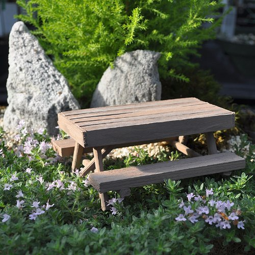 Miniature Fairy Garden Picnic Table, Weathered Model: , Toys & Games for Kids & Child