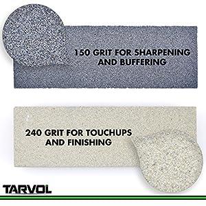 Combination Knife/Tool Sharpening Stone (2 SIDED - ULTRA FINE & MEDIUM GRIT) - Rectangle Sanding Stone Block - Perfect for Sharpening & Polishing Kniv