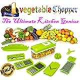 ABS Quality 12 Pcs Set Best Mandoline Kitchen Genius Slicer Dicer Cuts Vegetables & Fruits Cutter Grater Salad...
