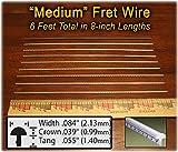 Guitar Fret Wire - Standard Medium/Medium Size, Nickel Silver - Six Feet