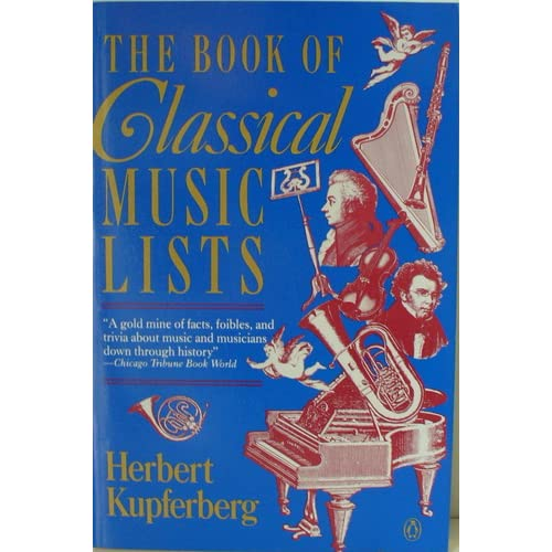 Book of Classical Music Lists Herbert Kupferberg