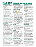 Microsoft Excel 2013 Advanced & Macros Quick Reference Guide (Cheat Sheet of Instructions, Tips & Shortcuts - Laminated Card)