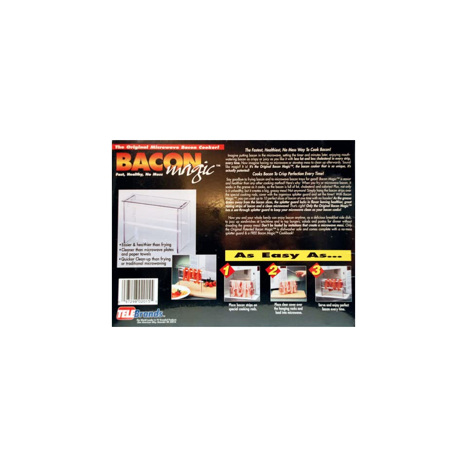 : Bacon Magic   The Original Microwave Bacon Cooker: Kitchen & Dining