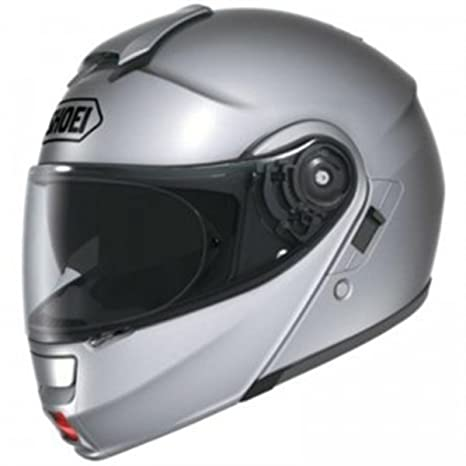 Shoei Neotec léger argent Dvs Flip moto casque + visière Pinlock