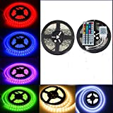 EconoLed Multicolor RGB LED Light Strip with Control Box and 44 Key Remote Controller (600 LEDs in 2 Rolls)
