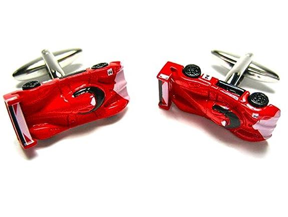 Red Diecast Race Car Cufflinks w/Gift Box