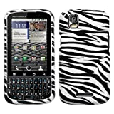 Zebra Skin Phone Protector Cover for MOTOROLA XT610 (Droid Pro)