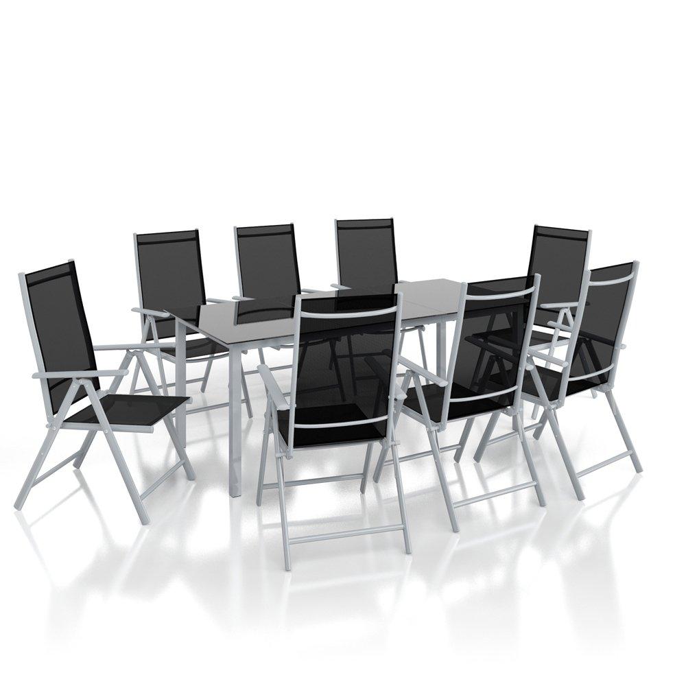 Alu Sitzgarnitur Gartenmöbel Set 7-teilig Garnitur ...