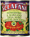 San Marzano DOP Authentic Whole Peeled Plum Tomatoes, 28 oz,(Pack of 4)