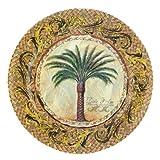 Merritt Majestic Palm Melamine Dishware Set, Type: Gold Border Plate 11