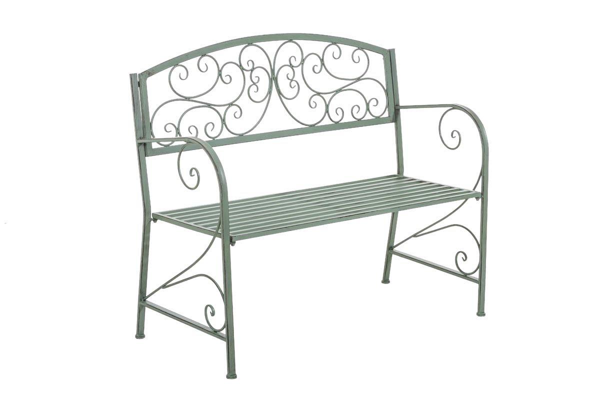 CLP Gartenbank AZAD im Landhausstil, aus lackiertem Eisen, 108 x 51 cm – aus bis zu 6 Farben wählen antik grün günstig bestellen