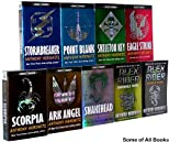 Alex Rider Adventure Series (COMPLETE 9-Book Set, 1. Stormbreaker; 2. Point Blank; 3. Skeleton Key; 4. Eagle Strike; 5. Scorpia; 6. Ark Angel; 7. Snakehead; 8. Crocodile Tears; 9. Scorpia Rising)