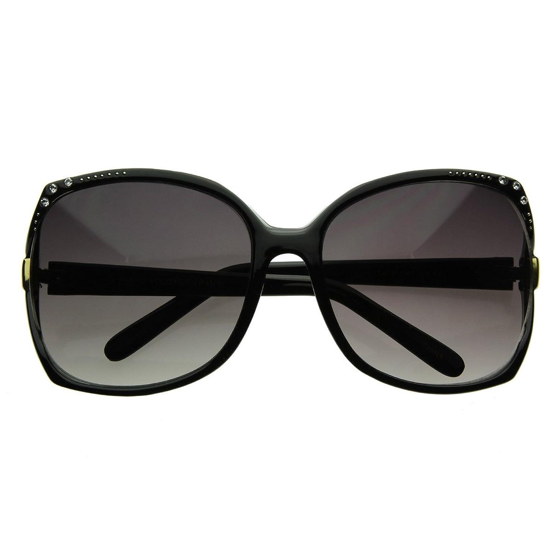 Womens Oversize Sunglasses with Rhinestones