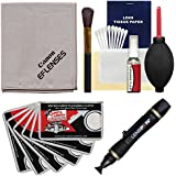 Canon Optical Digital Camera & Lens Cleaning Kit (Brush, Fluid & Tissue) with Lenspen + Blower + 6 Microfiber Cleaning Cloths for EOS 6D, 70D, 7D, 5DS, 5D Mark II III, Rebel T5, T5i, T6i, T6s, SL1