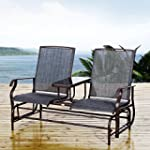 Outsunny Metal Double Swing Chair Gli...