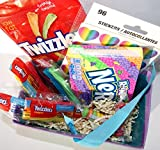 Colorful Rainbow Candy and Stickers Gift Basket Bundle
