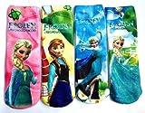 【並行輸入品】キッズからジュニア用靴下 4足セットフリーサイズ Disney デイズニー アナと雪の女王 Frozen  A-0468