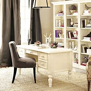 Home office ensemble 3 drawer desk ballard designs office furniture office - Ballard design home office ...