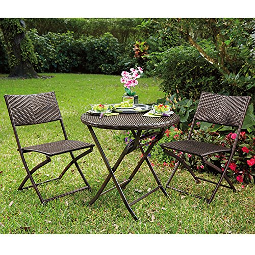 Bali Folding Bistro Table and Chairs Set photo