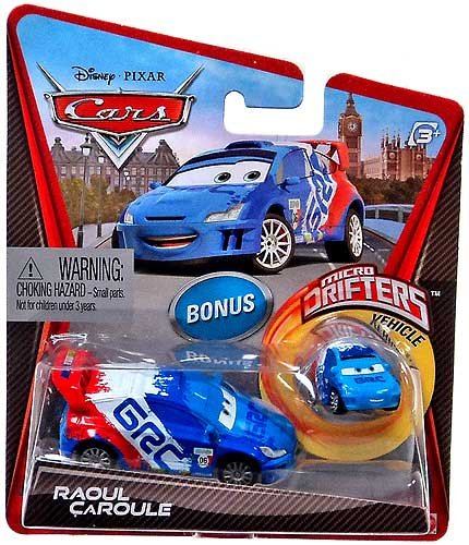 Disney / Pixar CARS Movie Micro Drifters & 1:55 Die Cast Car Raoul Caroule - 1