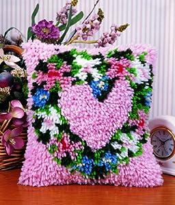 Caron Natura Latch Hook Rug Kit - Heart Wreath by Caron