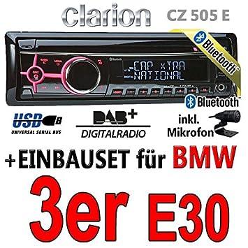 BMW série 3 e30 clarion cZ505E-digital avec bluetooth/dAB