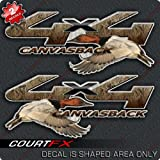Canvasback Duck Hunting 4x4 Truck Camo Decal