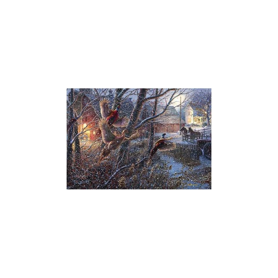 Ducks Unlimited Winter Pheasants Christmas Card on PopScreen