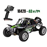 High Speed Racing Car, Off-Road Waterproof Vehicle Upgraded 540 Brush Motor High Speed 40km/h 1:18 4D 2.4G RC Car (Color: Green)