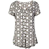 Laides Pleated Butterfly Print Top With StayNEWTM (14)