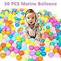 TOPFIRE 50 PCS Colorful Plastic Ball Pit Balls Baby Kids Tent Swim Toys Ball Pool Ball Ocean Ball ( 50pcs Colorful Balls ) by TOPFIRE MALL