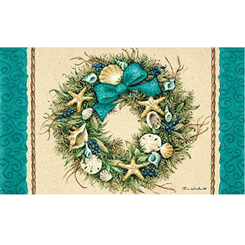 Custom Décor Coastal Wreath Doormat