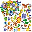 Jungle Animal Foam Stickers (Pack of 120)