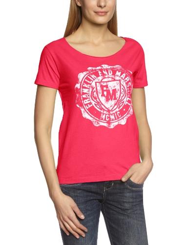Franklin & Marshall - Maglietta, manica corta, donna, rosa (Rosa (DORM PINK)), L