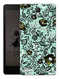 "Vintage Flowers Pattern Printed Designer Mobile Back Cover For ""Xiaomi Redmi Note - Note 4G"" By Humor Gang (3D, Matte Finish, Premium Quality, Protective Snap On Slim Hard Phone Case, Multi Color)"