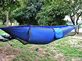 Camping Hammock,Topist Hammock Tent Pop Up Mosquito Net Ultralight Durable Parachute Fabric Hammock for Outdoor,Beach, Hiking, Traveling, Backyard, Backpacking (Blue)